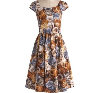 ModCloth Folter Retrolicious cat dress size M new